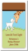 Lamb & Giraffe - Custom Rectangle Baby Shower Sticker/Labels