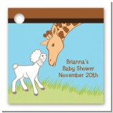 Lamb & Giraffe - Personalized Baby Shower Card Stock Favor Tags