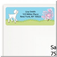 Lamb & Giraffe - Baby Shower Return Address Labels