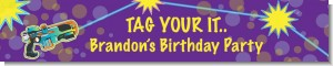 Laser Tag - Personalized Birthday Party Banners