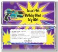Laser Tag - Personalized Birthday Party Candy Bar Wrappers thumbnail