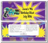 Laser Tag - Personalized Birthday Party Candy Bar Wrappers