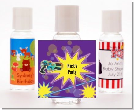 Laser Tag - Personalized Birthday Party Hand Sanitizers Favors