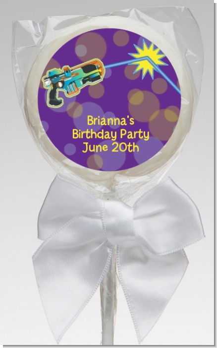Laser Tag - Personalized Birthday Party Lollipop Favors