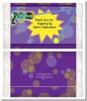 Laser Tag - Personalized Popcorn Wrapper Birthday Party Favors