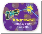 Laser Tag - Personalized Birthday Party Rounded Corner Stickers