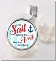 Last Sail Before The Veil - Personalized Bridal Shower Candy Jar