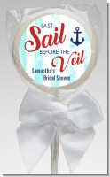 Last Sail Before The Veil - Personalized Bridal Shower Lollipop Favors