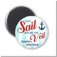 Last Sail Before The Veil - Personalized Bridal Shower Magnet Favors