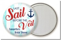 Last Sail Before The Veil - Personalized Bridal Shower Pocket Mirror Favors