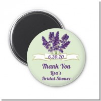 Lavender Flowers - Personalized Bridal Shower Magnet Favors