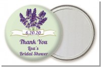 Lavender Flowers - Personalized Bridal Shower Pocket Mirror Favors