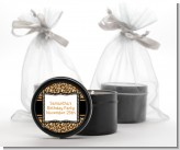 Leopard & Zebra Print - Birthday Party Black Candle Tin Favors