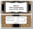 Leopard & Zebra Print - Personalized Birthday Party Candy Bar Wrappers thumbnail