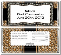 Leopard & Zebra Print - Personalized Birthday Party Candy Bar Wrappers