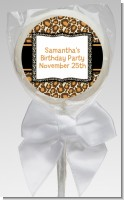 Leopard & Zebra Print - Personalized Birthday Party Lollipop Favors
