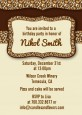 Leopard Brown - Birthday Party Invitations thumbnail