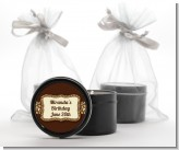 Leopard Brown - Birthday Party Black Candle Tin Favors