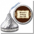 Leopard Brown - Hershey Kiss Birthday Party Sticker Labels thumbnail