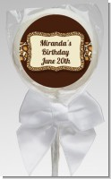 Leopard Brown - Personalized Birthday Party Lollipop Favors