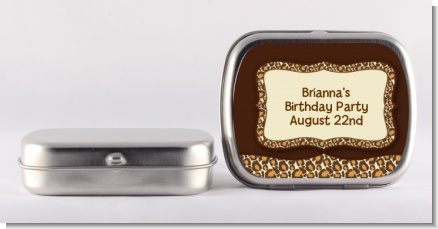 Leopard Brown - Personalized Birthday Party Mint Tins