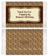 Leopard Brown - Personalized Popcorn Wrapper Birthday Party Favors thumbnail