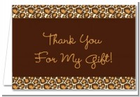 Leopard Brown - Birthday Party Thank You Cards