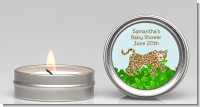 Leopard - Baby Shower Candle Favors