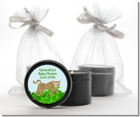 Leopard - Baby Shower Black Candle Tin Favors