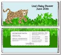 Leopard - Personalized Baby Shower Candy Bar Wrappers