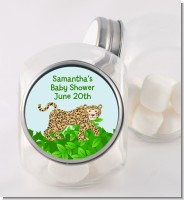 Leopard - Personalized Baby Shower Candy Jar