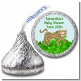 Leopard - Hershey Kiss Baby Shower Sticker Labels thumbnail