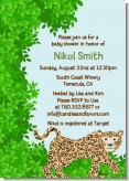 Leopard - Baby Shower Invitations