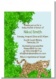 Leopard - Baby Shower Petite Invitations
