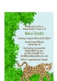 Leopard - Baby Shower Petite Invitations thumbnail