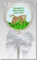 Leopard - Personalized Baby Shower Lollipop Favors