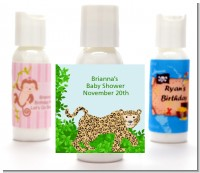 Leopard - Personalized Baby Shower Lotion Favors