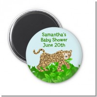 Leopard - Personalized Baby Shower Magnet Favors