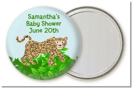 Leopard - Personalized Baby Shower Pocket Mirror Favors