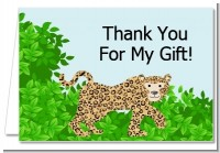 Leopard - Baby Shower Thank You Cards
