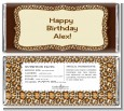 Leopard Brown - Personalized Birthday Party Candy Bar Wrappers thumbnail