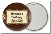 Leopard Brown - Personalized Birthday Party Pocket Mirror Favors