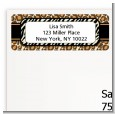 Leopard & Zebra Print - Birthday Party Return Address Labels thumbnail
