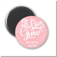 Let Love Grow - Personalized Bridal Shower Magnet Favors
