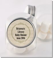 Library Card - Personalized Baby Shower Candy Jar