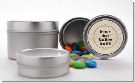 Library Card - Custom Baby Shower Favor Tins