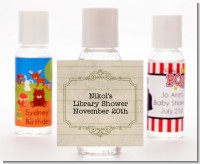 Library Card - Personalized Baby Shower Hand Sanitizers Favors