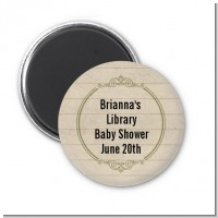 Library Card - Personalized Baby Shower Magnet Favors