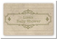 Library Card - Baby Shower Landscape Sticker/Labels