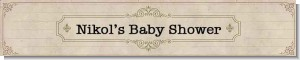 Library Card - Personalized Baby Shower Banners
